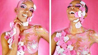 Anaelle Guimbi'nin meme kanseri için paylaştığı fotoğraflar