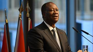 رئيس ساحل العاج الحسن وتارا