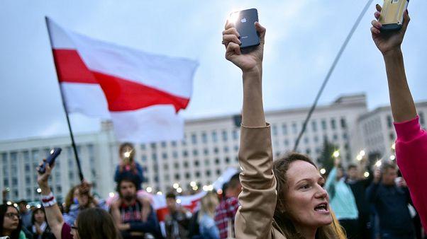 Belarus'ta protesto gösterileri devam ediyor