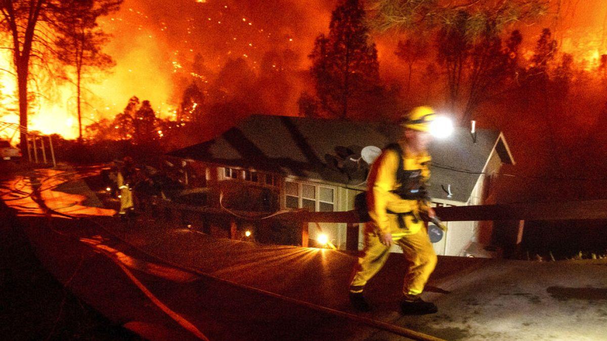 'Daha önce görülen hiçbir şeye benzemiyor': Kaliforniya'da orman yangını  'büyük felaket' ilan edildi | Euronews