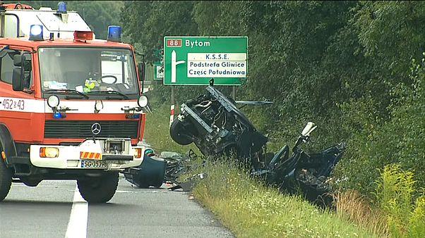 Mortal accidente de tránsito en Polonia deja al menos nueve muertos y casi una decena de heridos