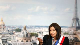 Paris mayor Anne Hidalgo during a council meeting in Paris on July 3, 2020.