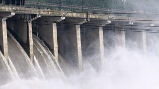 Hidroelektrik santral olarak kullanılan bir baraj, Maryland, ABD