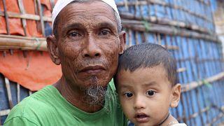 في أحد مخيمات اللاجئين في بنغلادش