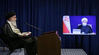 سخنرانی ویدئویی علی خامنهای با هیات دولت ایران