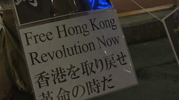 Élőlánc Hongkongért Tokióban