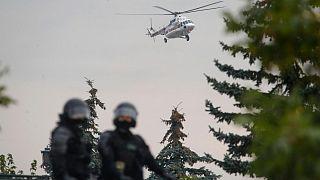 بازگشت هلیکوپتر حامل رئیس جمهوری بلاروس به اقامتگاه