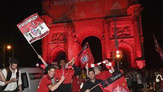 A Munich, la joie des supporters du Bayern.
