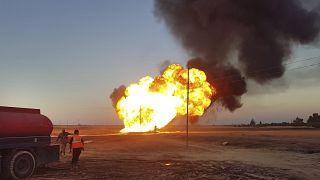آتشسوزی در خط لوله گاز سوریه