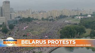 Thousands gather in Minsk to protests against President Lukashenko