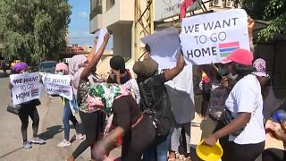 Beirut: Foreign workers demand to return home