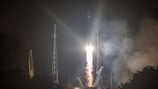 Fransız Guyanası'ndan havalanan Rus Soyuz roketi
