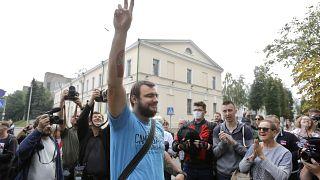 Глава стачкома МТЗ Сергей Дылевский, один из задержанных