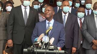 Ouattara files his candidacy for the IEC