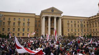 Belarus'ta muhaliflerin gösterileri