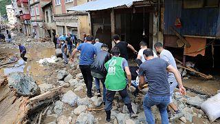 Violenti inondazioni a Dereli in Turchia