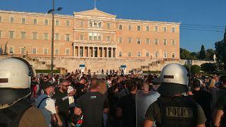 Διαδηλωτές στο Σύνταγμα