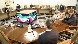 Rafael Mariano Grossi, Director General International Atomic Energy Agency and Head of the Atomic Energy Organization of Iran, Ali Akbar Salehi, meeting in Tehran,Iran
