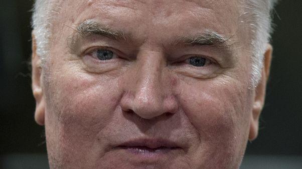 Ratko Mladic au Tribunal pénal international pour l'ex-Yougoslavie à La Haye, le 22 novembre 2017