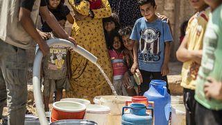 Haseke'de yaşanan su kesintisi