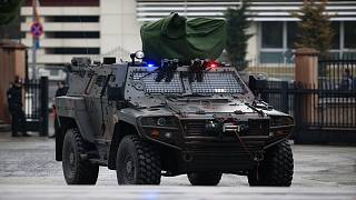 عربة للشرطة التركية وسط مدينة اسطنبول