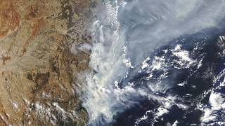 Az ausztráliai bozóttüzek füstje a NASA űrfelvételén