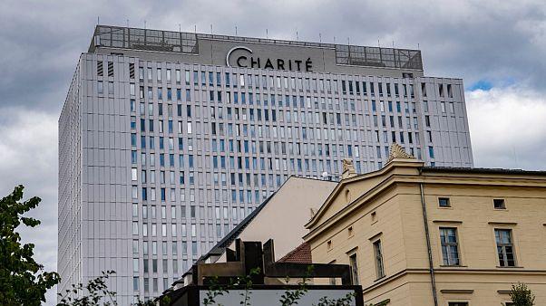 """مستشفى """"شاريتيه"""" الألماني في برلين حيث يعالج المعارض الروسي ألكسي نافالني. 2020/08/23"""