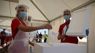 Koronavírus-teszt Belgiumban