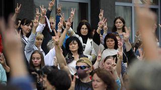 Протест учителей в Минске