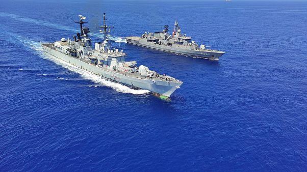 Milli Savunma Bakanlığı Doğu Akdeniz'de İtalya Deniz Kuvvetleri'ne ait muhrib ile geçiş eğitimleri icra edildiğini duyurdu.