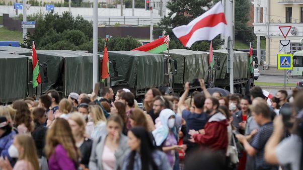 Manifestations anti-pouvoir en Biélorussie