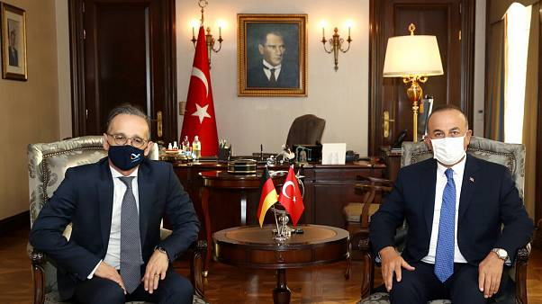 Ο ΥΠΕΞ της Γερμανίας, Χάικο Μάας, και ο ΥΠΕΞ της Τουρκίας, Μεβλούτ Τσαβούσογλου