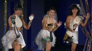 ویدیو؛ نمایش مد با پای مصنوعی به جای افتتاح پارالمپیک توکیو