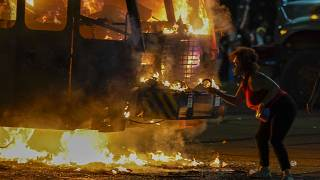 A state of emergency had been declared in Wisconsin after protests erupted on Monday.
