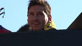 El delantero argentino celebrando un título