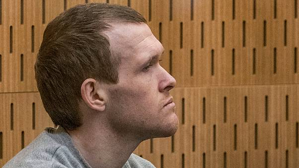 Australian Brenton Harrison Tarrant, 29, sits in the dock on day three at the Christchurch High Court on August 26, 2020
