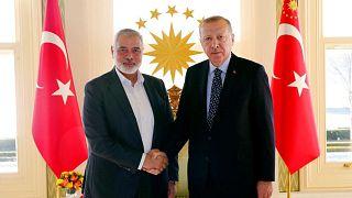 دیدار اسماعیل هنیه با رئیسجمهوری ترکیه
