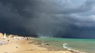 A tornado hit Pescoluse beach in Italy on Tuesday