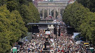 تظاهرات ضدکرونا یکم اوت گذشته