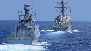 Doğu Akdeniz'de Türk ve Amerikan donanmaları deniz eğitimleri icra etti