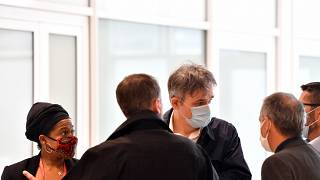 Riss, directeur de la publication de Charlie Hebdo, arrive au tribunal de Paris pour l'ouverture du procès des attentats de janvier 2015 à Paris
