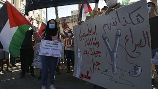مظاهرة ضد مخطط الضم الإسرائيلي، رام الله، يوليو 2020