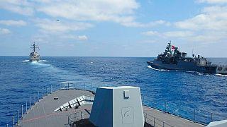 تمرینهای دریایی مشترک ترکیه و آمریکا در شرق مدیترانه