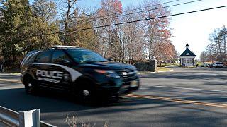 New Jersey eyaletinde bir polis arabası, arşiv