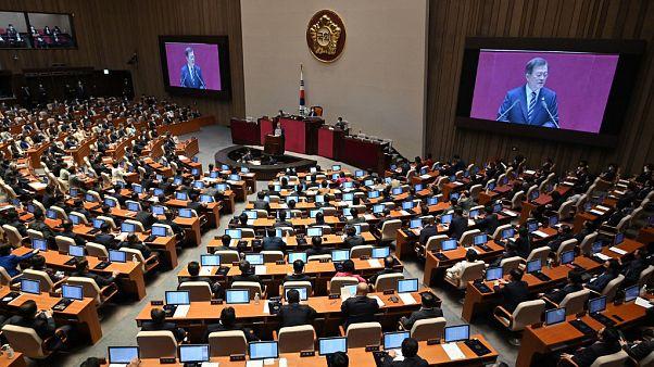 La Asamblea Nacional de Seúl el pasado 16 de julio durante la apertura de la 21ª legislatura