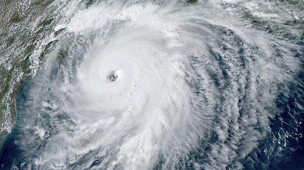 Laura kasırgasının uydu görüntüsü
