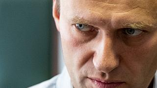 In this Wednesday, Sept. 5, 2018 file photo Russian opposition leader Alexei Navalny pictured at a hearing in Moscow, Russia