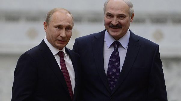 Rusya Devlet Başkanı Vladimir Putin ve Belarus Cumhurbaşkanı Aleksandr Lukaşenko