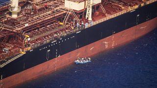 Ein Rettungsschiff von Sea Watch