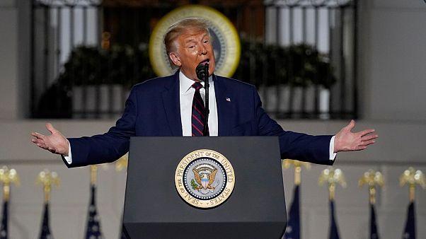 الرئيس الأميركي دونالد ترامب خلال كلمة الأمس